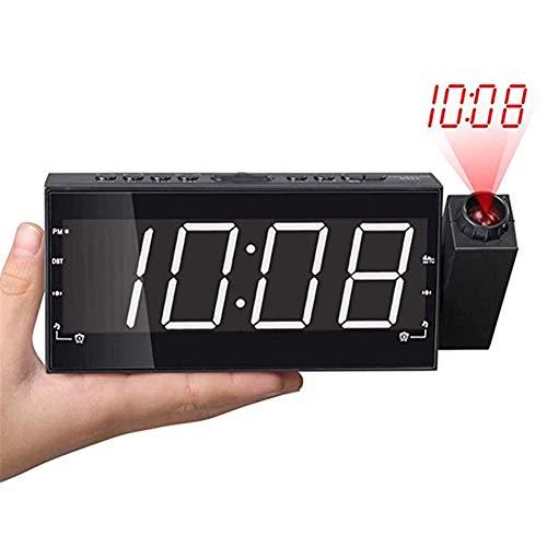 YUXIA Despertador Proyector Am FM Radio, Relojes De Proyección para Los Dormitorios...