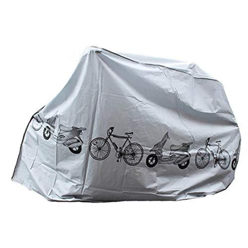 Cubiertas para bicicleta con protección UV, protección contra polvo, lluvia, impermeable, para interiores y exteriores, color gris