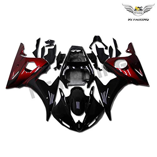 NT FAIRING Glossy Red Black Injection Mold Fairing Fit for Yamaha YZF 2003-2005 R6 & 2006-2009 R6S New Painted Kit ABS Plastic Motorcycle Bodywork Aftermarket