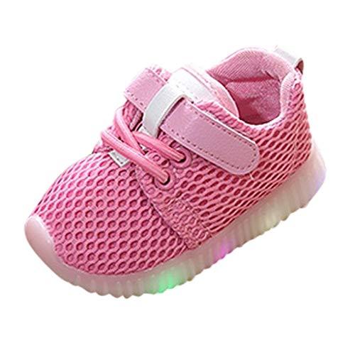 Luckycat Zapatos LED Niños Niñas 7 Color Zapatillas Deportivas Unisex Zapatillas de Correr Transpirables Antideslizante Zapatillas Ligeras Chicos Chicas Zapatos Calzado