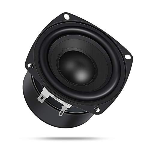 DROK 4.5 Inches 4 Ohm HiFi Subwoofer Speakers Stereo Audio Loudspeaker, 40W Dual Magnetic DIY Loudspeaker with Bass for Desktop Computer Speakers