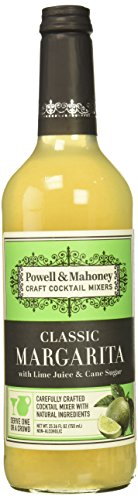 Powell & Mahoney Craft Cocktail Mixers, Classic Margarita, Non Alcoholic, 750ml