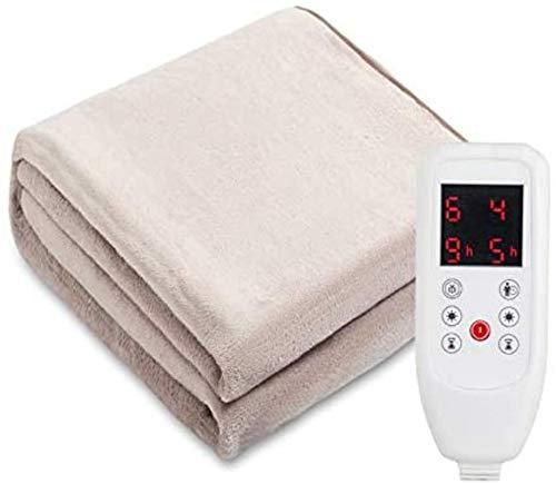 Manta calefactora de Peluche Promed, Manta eléctrica con Apagado automático, Manta calentadora,...