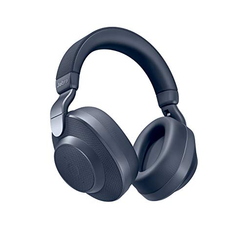 Jabra Elite 85h Bluetooth Active Noise Cancelling koptelefoon (over ear, tot 36 uur Batterijduur met ANC, SmartSound technologie, spraakbediening, Alexa, Siri, Google Assistant) marineblauw