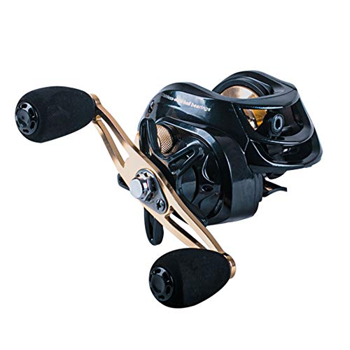ANGRYFISH Baitcasting Fishing Reel, 6.3:1 Gear Ratio,10 + 1 Anti-Corrosion Ball Bearings,Magnetic Brake System,Powerful & Durable,Great Value!(Left Handed)