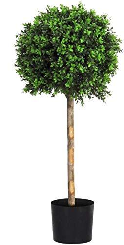 Buchsbaum Kugel–Baum Außenbeleuchtung Außen mit Stamm echter–UV-u.v. Zertifikat TUV–Hoch 150cm -