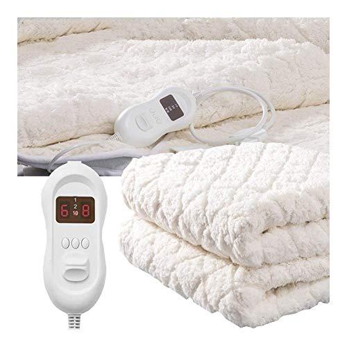 WYZQ Manta eléctrica para Cama Doble, Controles Dobles |Colchón con calefacción Completamente...