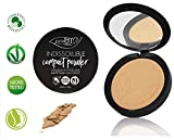 PuroBIO Certified Organic INDISSOLUBILE Face Powder with Anti-Aging & Mattifying properties, Color 04 Medium/Dark.Contains Vitamin E, Rice Powder,Shea Butter,Plant Oils.VEGAN. NICKEL TESTED.MADE ITALY