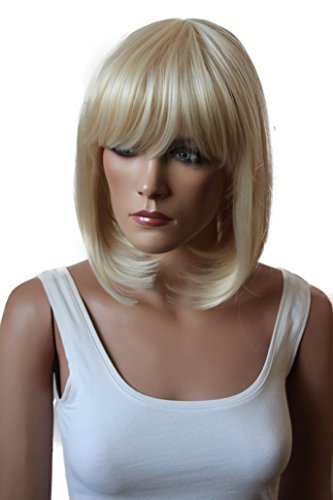 PRETTYSHOP Unisexe perruque Bob cheveux courts fibre synthétique résistant à la chaleur blond platine # 613 SH032f