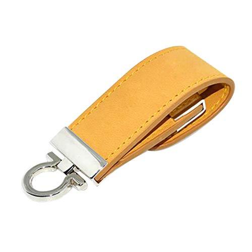 Skyeye Funda de Cuero Dorada Estilo U Disco USB Flash Drive Pen...