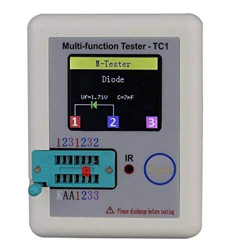 wisTek Pocketable Multifunctional Transistor Tester LCR Meter for Diode Triode Capacitor Resistor Transistor LCR ESR NPN PNP MOSFET with 1.8 inch Colorful Display