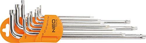 Neo 09-526, Set di Torx chiavi a L, 9 pz.
