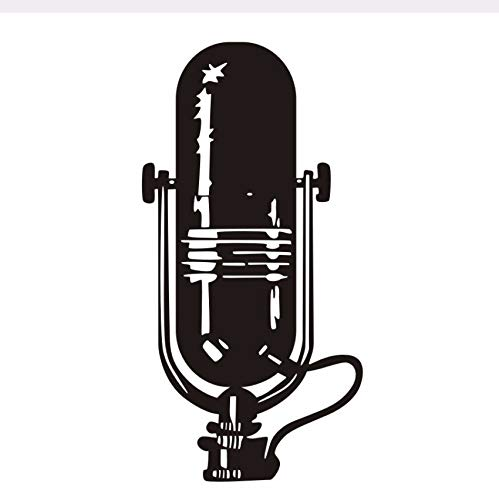 Pmhhc Muziekmicrofoon, wanddecoratie, sticker, plakfolie, vinyl, woonkamer, kinderkamer, babykamer, woonkamer