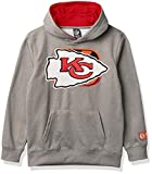 Ultra Game NFL Kansas City Chiefs Youth Extra Soft Poly Dry Fleece Pullover , Heather Gray, Medium
