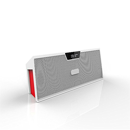 Sardine SDY-019 Bluetooth Speaker, Portable Bluetooth Stereo Speaker, FM Radio, Support TF Card/Micro SD Card and USB Input, Support MP3, WAV, WMA, APE, FLAC File for Smartphone White