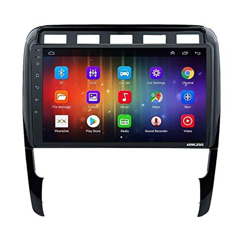 WY-CAR Unidad Principal Estéreo De Radio De Coche Android 8.1 De 9 Pulgadas para Porsche Cayenne 2002-2010, Navegación GPS/Bluetooth/FM/RDS/Control del Volante/Cámara Trasera,4 Core-WiFi: 1+16G