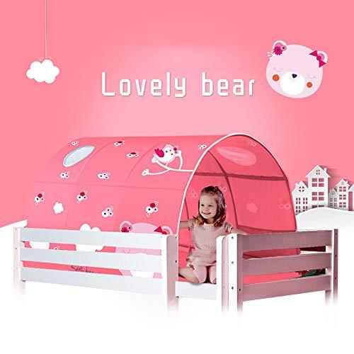 LJLYL Kinderbett Zelt, Traum-Zelt-Bett-Überdachung Shelter, Innen Privacy Warm Breathable-Spiel-Zelt, wachsende Junge Mädchen,Rosa,Without Yarn Curtain