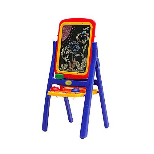 CKR De Mesa Infantiles Magnética Dibujo, Primaria Tipo De Soporte De La Escuela De Caballete, Plegado Tablero De Dibujo Tablero De Doble Cara-Escritura