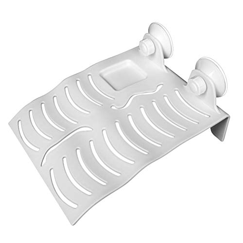 Mignon84Cook Grande Taille Tortue Flottante Plate-Forme , Séchage Basking Platform Rampe Reste d'escalade Plate-Forme avec 2 Sucker ( Blanc )