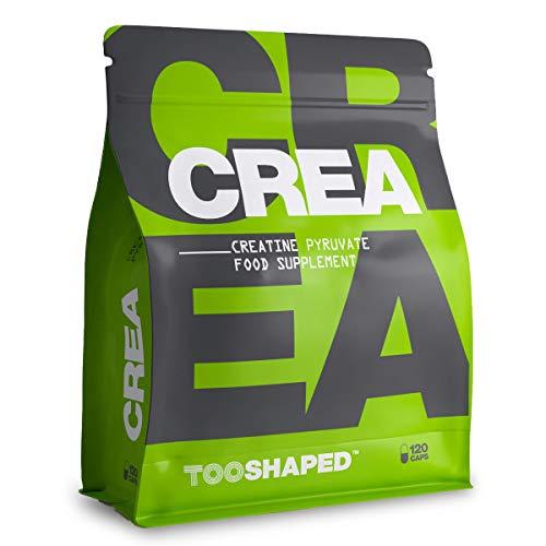 Kreatin Kapseln - Kreatin Supplement für Athleten im Kraftsport, für mehr Definition und Ausdauer, 120 vegane Kapseln von TOOSHAPED