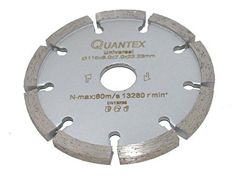 Diamant Frässcheibe Ø 115 mm Segmentstärke 8,0 mm, Fugenfräser für Mauerwerk und Putz