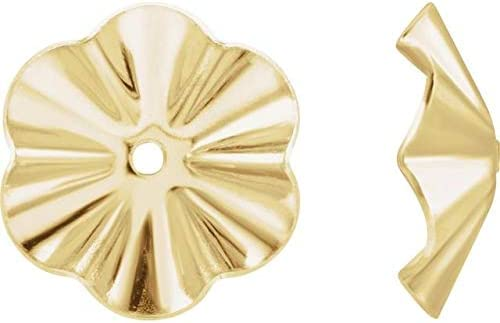 14K Yellow Tucson Mall Gold 7.8 mm Ea Jackets Genuine Free Shipping Buttercup OD Earring