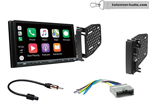 Sony XAV-AX5000 Double Din Radio Install Kit With Apple CarPlay, Android Auto, Sirius XM Ready Fits 2009-2010 Ram 2011-2014 Chrysler 200 (REF, REC, and RAK Factory Radios)