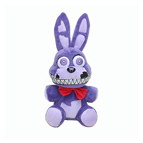 MUYANDZ Juguetes de Peluche 18 cm FNAF Purple PELUMINA PESTURA Bonnie PELUMING Toys Cinco Noches en Fredy Bonnie Peluche Toys Muñecas de Peluche Suaves (Color : New Bonnie, Height : 18cm)