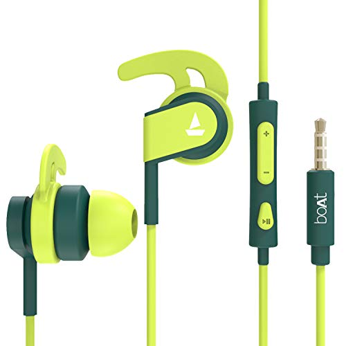 boAt Bassheads 242 in Ear Wired Earphones with Mic(Neon...