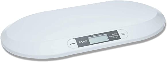EAGLE Digital Baby Weighing Scale with Green Backlight Display (20 kg, White)