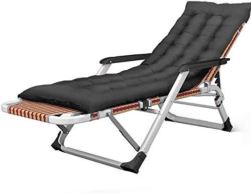 Sillas de camping Silla de playa plegable Cuna Hora de la almuerzo individual silla del ocio frío Inicio Portable adulto cama sofá perezoso silla de jardín Terraza camping silla de playa, de carga 200
