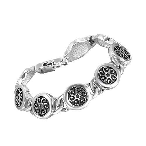Daesar Wickel Armband Edelstahl Blumen Muster Punk Armbänder Männer Freundschafts Armband