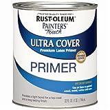 Rust-Oleum, Flat Gray Primer 1980502 Painters Touch Quart Latex, 32 Fl Oz