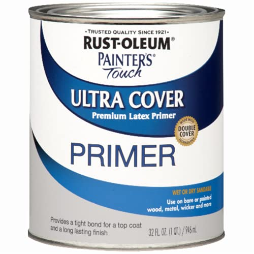 Rust-oleum, flat gray primer 1980502 painters touch quart latex, 32 fl...