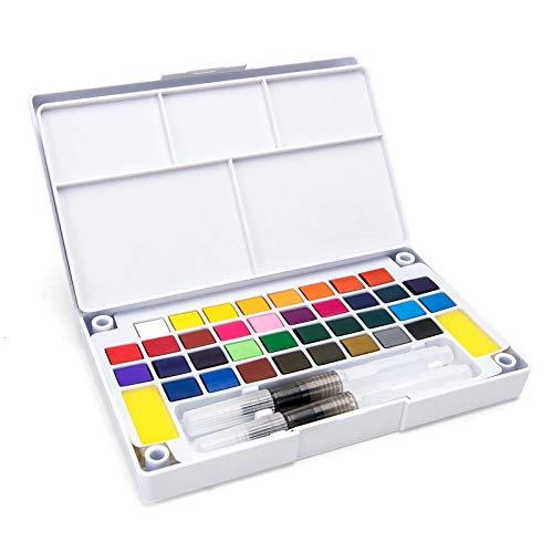 Aquarela Pastilha 36 cores
