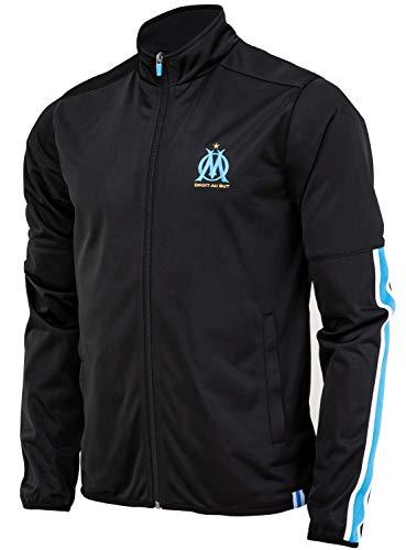 Olympique de Marseille Herren-Jacke mit Reißverschluss, offizielle Kollektion M blau