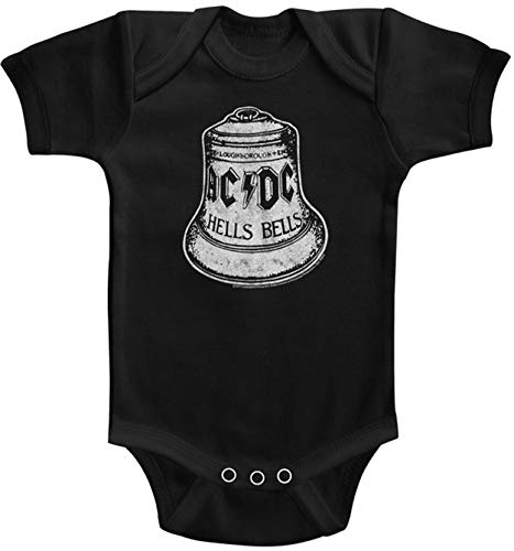 AC/DC Hells Bells Babygrow Barboteuse - Noir - 0-6 mois