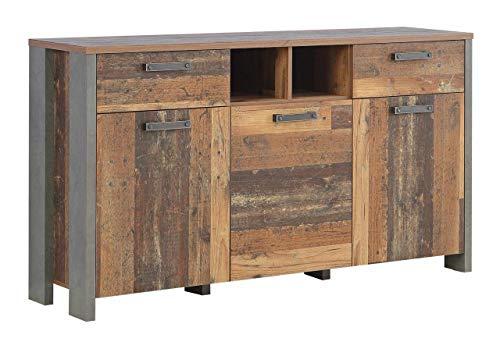 FORTE Kommode, Sideboard in trendigem Vintage/Industrial Look mit reichlich Stauraum