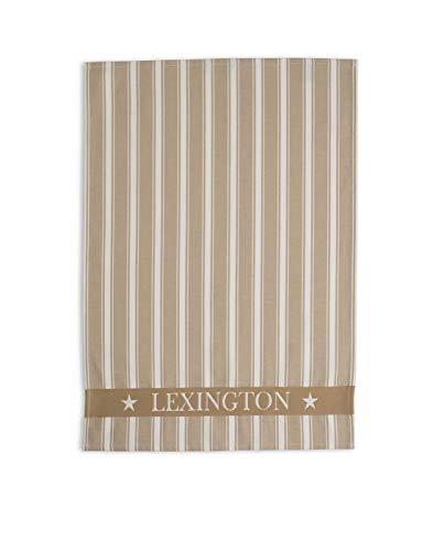 Lexington- Toalla de Cocina, diseño de Rayas, Beige, 50x70