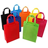Tosnail 32 Pack Reusable Gift Bags Party Bags Fabric Tote Bags Treat Bags - Assorted 8 Colors