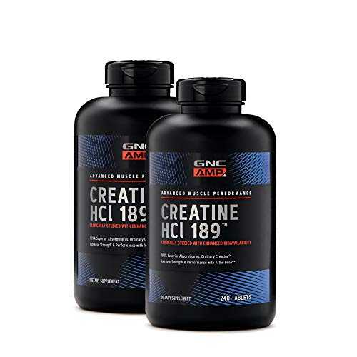 GNC AMP Creatine HCl 189, 240 Tablets, Increase Strength and Performance