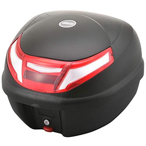 GIVI (ジビ) バイク用 リアボックス 30L 未塗装ブラック レッドレンズ モノロックケース E30RN 16976