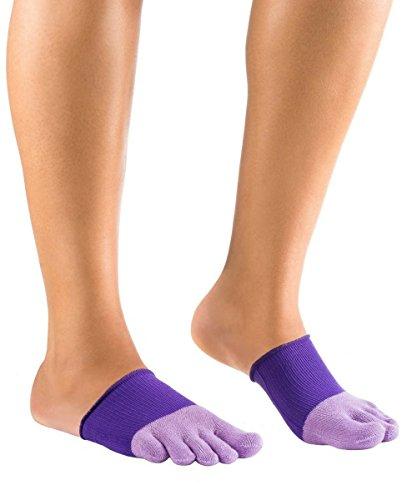 Knitido Dr. Foot Hallux-Valgus-Zehlinge, geschlossene Füßlinge zur Unterstützung bei Ballenzeh, Farbe:violett (011), Größe:35-40