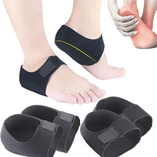 Fersensporn Bandage Silikon, Kapmore Ferse Socken 2 Paar Fersensocken Heel Wrap Verstellbare Atmungsaktive Plantarfasziitis Wrap Fersenschutz