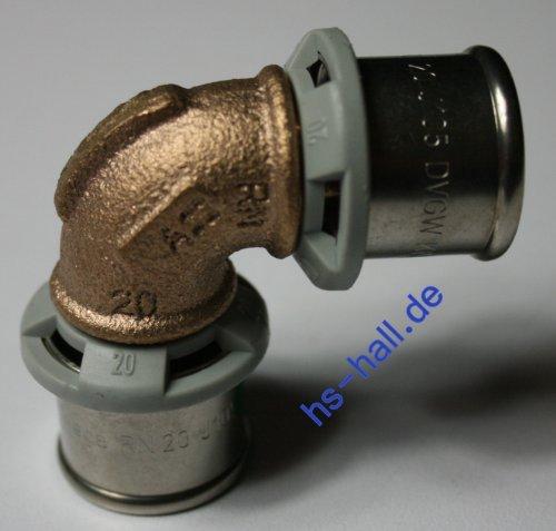 Viega Sanfix P Fosta Bogen Winkel 90° 20 mm Pressfitting