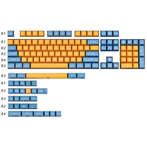 ScottDecor Tastaturplatte 108 Tasten MAXKEY KA Keycap Sets Double ABS 125 Keys for MX Mechanische Tastatur (Color : KA Base Kit)