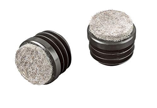 16 Piezas de patines deslizantes de fieltro para muebles y patas de la silla, tapa redonda, protector de suelos, tamaños elegible de 15mm a 32mm (diámetro exterior: 16mm, espesor de pared: 1,5-2mm)