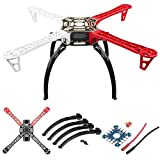 XHUENG F450 Drone 450 Frame Camera Wheel Kit/para RC MK Mwc 4-Axis RC Multicopter Quadcopter Heli Multi-Rotor con Land Gear (Color : Whole Set)