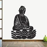 wZUN Pegatinas de Pared de Buda para Sala de Estar, decoración del hogar, Budismo, meditación Zen, religión, Vinilo, Pegatina de Pared, decoración artística, 50X37cm