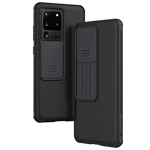 LOOKING UP Hülle für Samsung Galaxy S20 Ultra / S20 Ultra 5G,Handyhülle Hülle mit Schiebekamera-Abdeckung [Anti-Fingerabdruck] [Anti-Kratzer] für Samsung Galaxy S20 Ultra